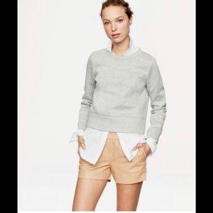 JCrew leather shorts